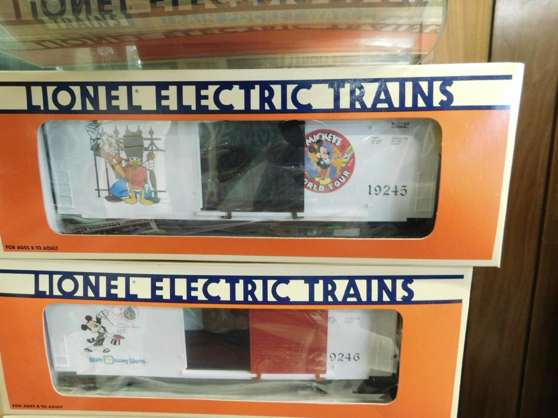 3 Lionel Disney Box Cars in Boxes - 2