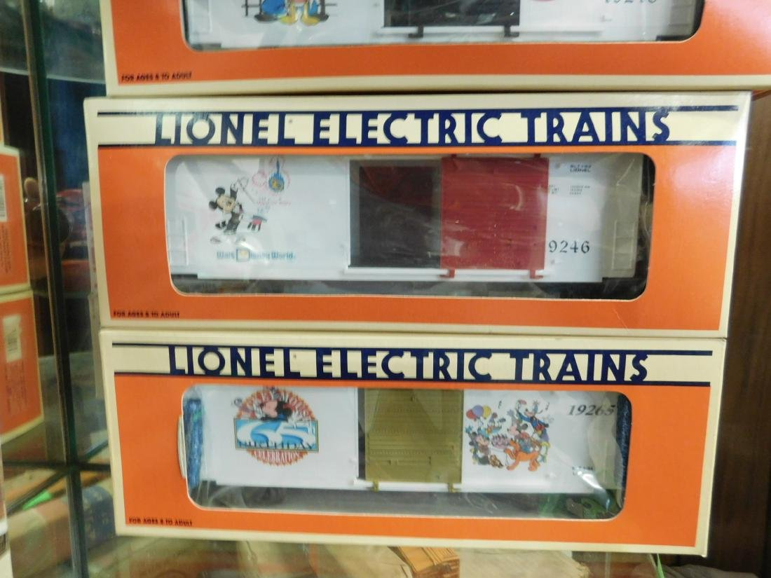 3 Lionel Disney Box Cars in Boxes - 4