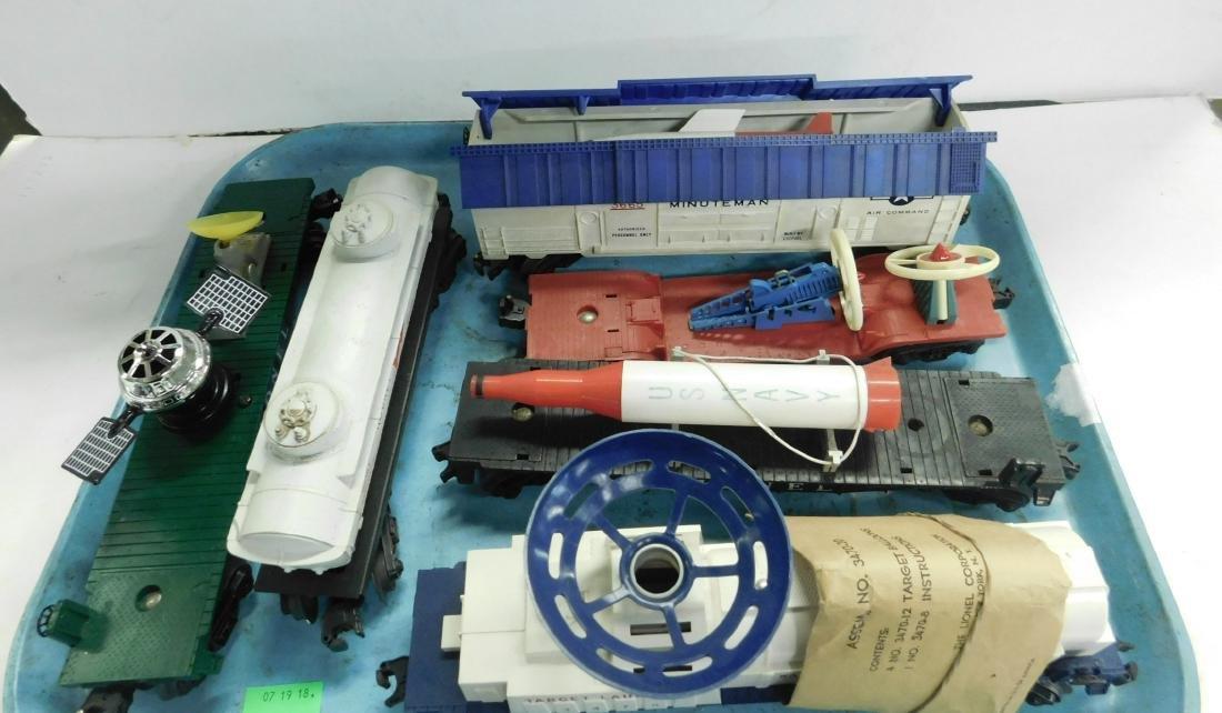 6 Lionel Postwar Space & Military Train Cars - 2