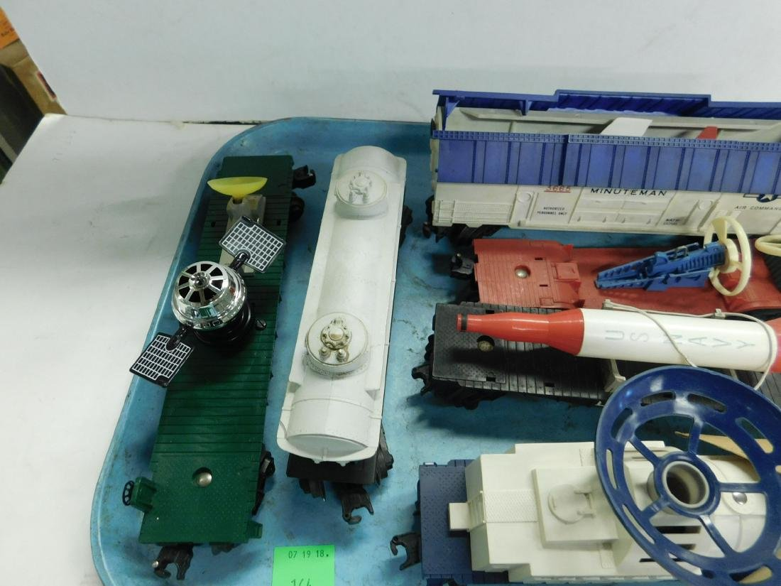 6 Lionel Postwar Space & Military Train Cars - 3