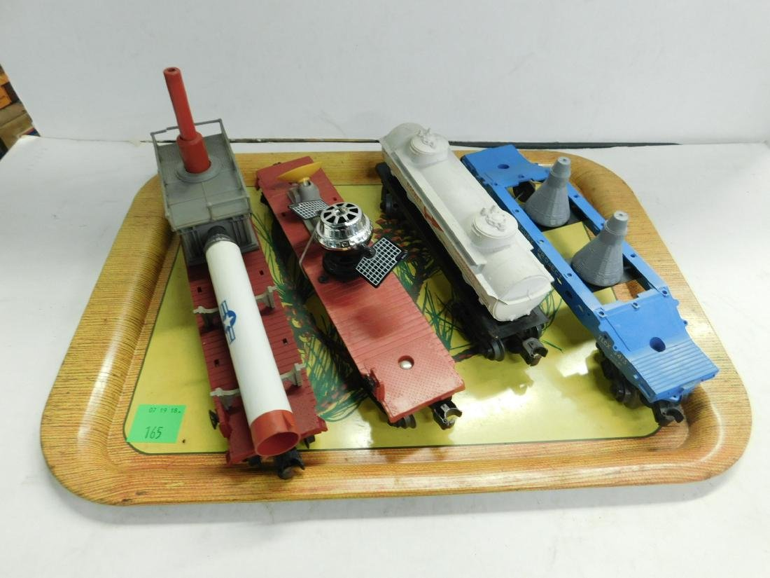 "4 Lionel ""Space Mission"" Train Cars"