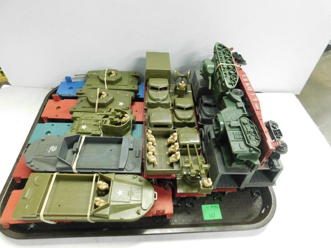 10 Lionel Flatcars w/Military Units