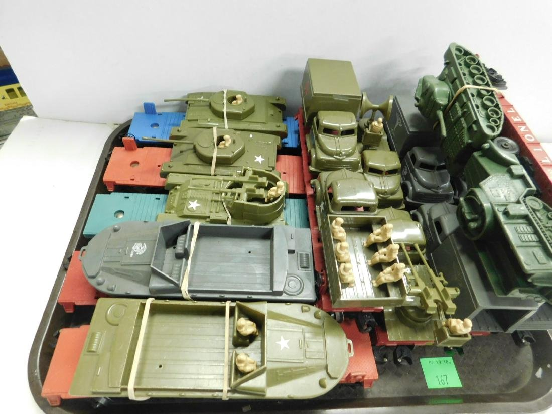 10 Lionel Flatcars w/Military Units - 2