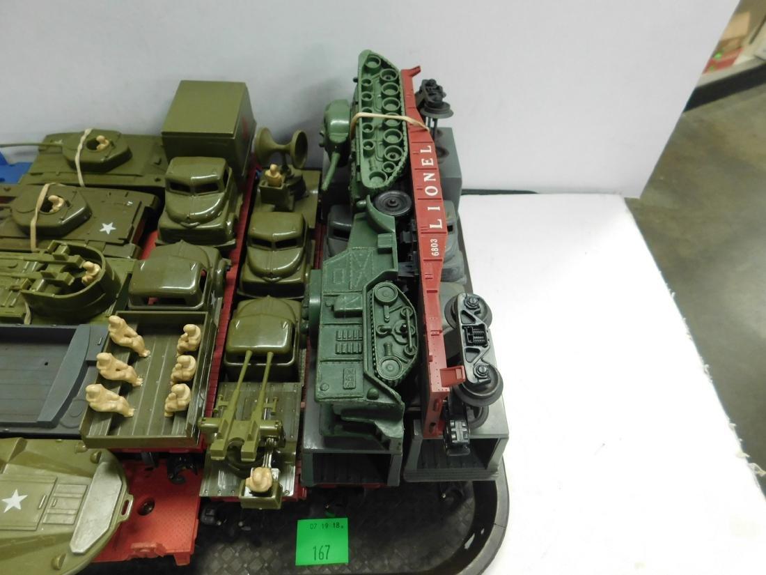 10 Lionel Flatcars w/Military Units - 3