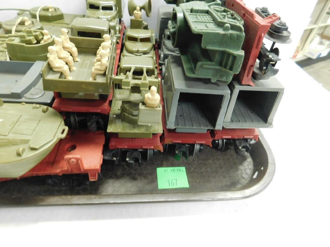 10 Lionel Flatcars w/Military Units - 4