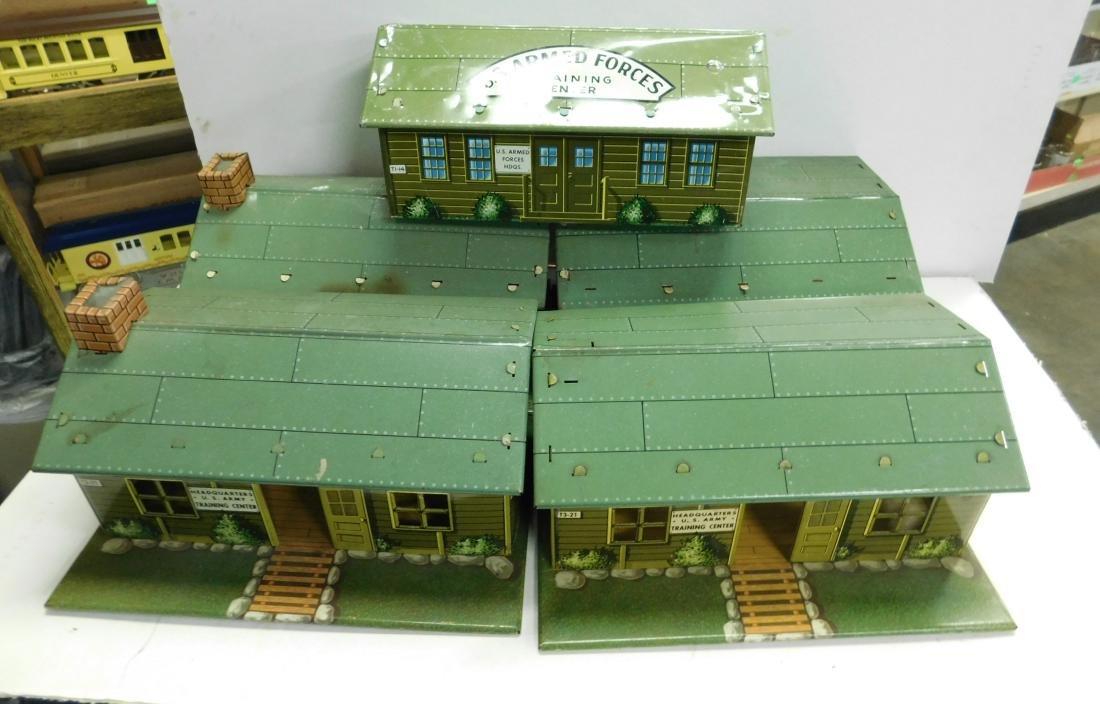 5 Marx Tin Litho Army Buildings