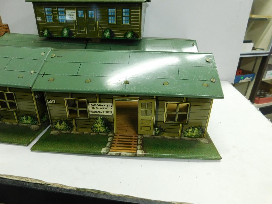 5 Marx Tin Litho Army Buildings - 3
