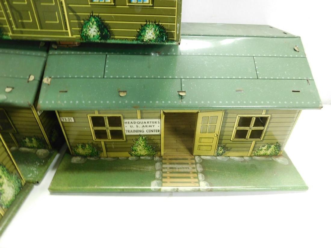 5 Marx Tin Litho Army Buildings - 4