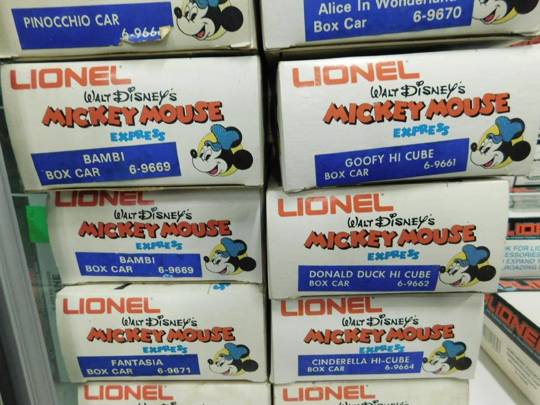 13 Lionel Mickey Mouse Express Character Cars - 4