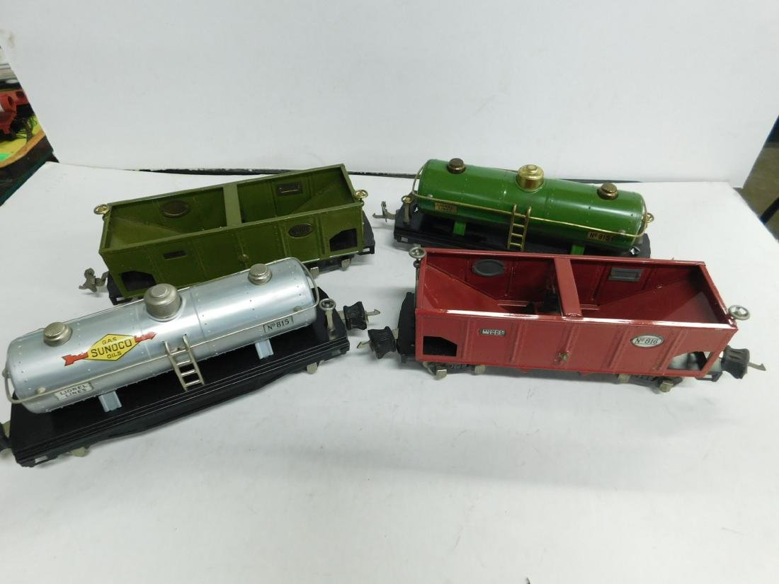 4 Lionel O Gauge Train Cars w/Original Boxes