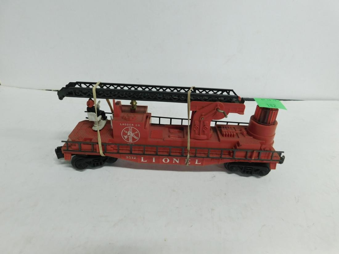 Lionel Postwar Operating Fireman & Ladder Car