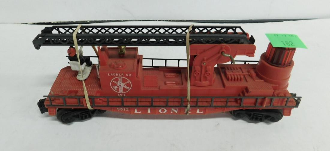 Lionel Postwar Operating Fireman & Ladder Car - 2