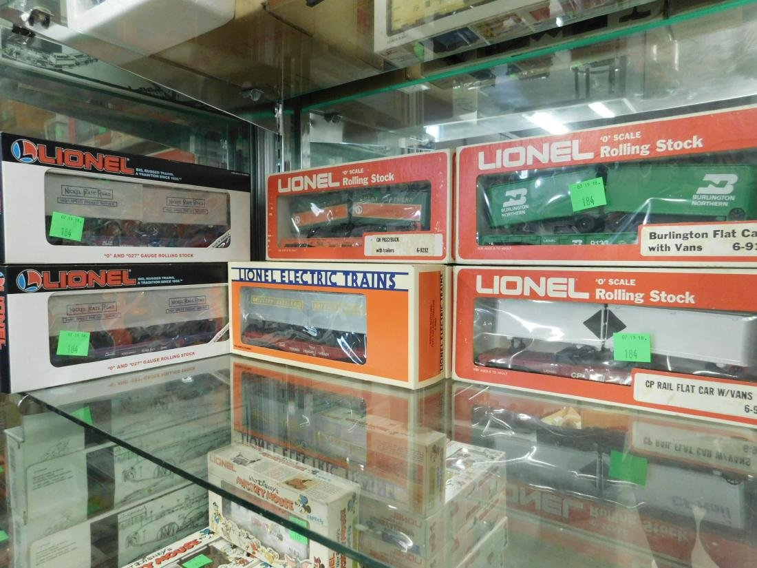 """7 Lionel """"Rolling Stock"""" Train Cars in Boxes"""