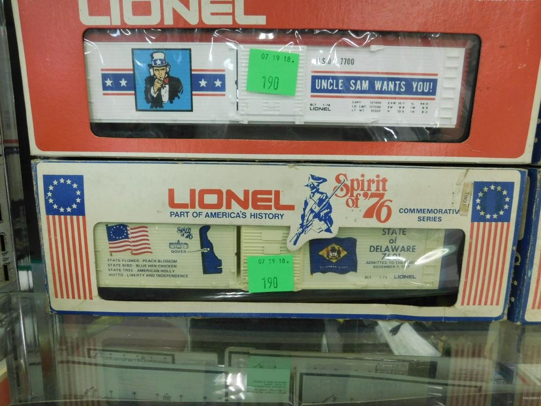 3 Lionel Spirit of '76 Box Cars & Other - 2