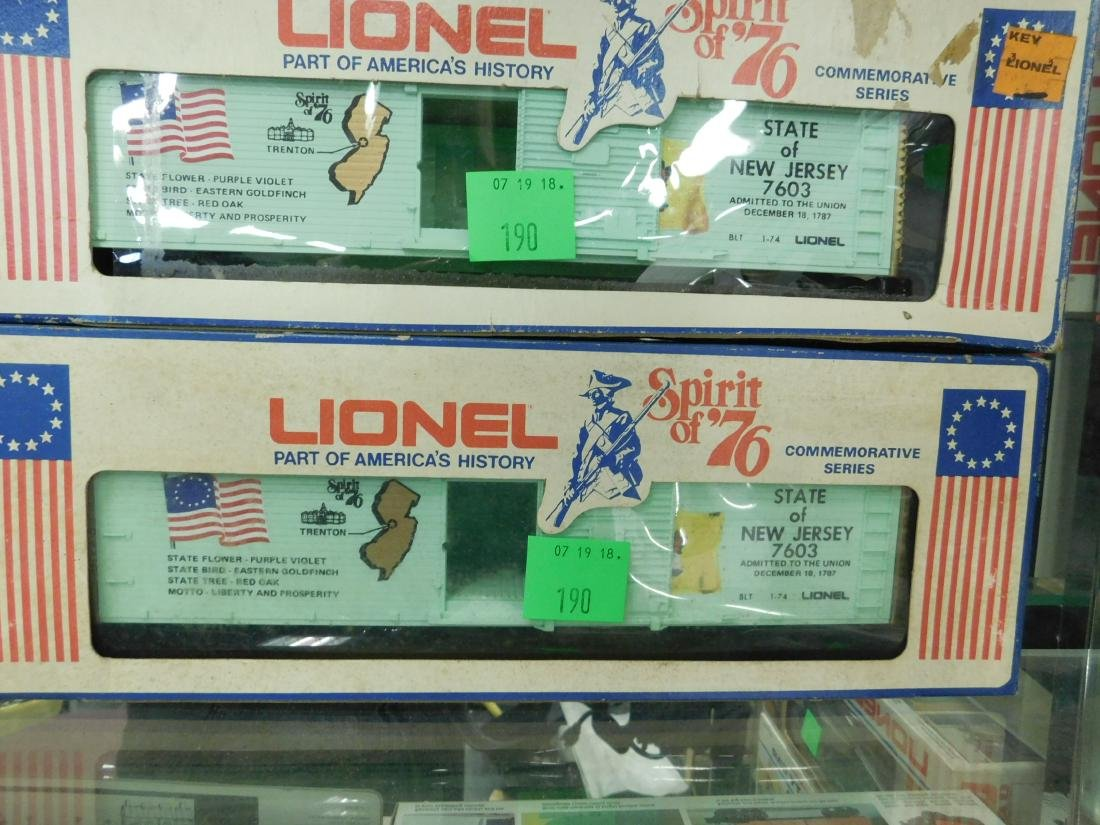 3 Lionel Spirit of '76 Box Cars & Other - 3