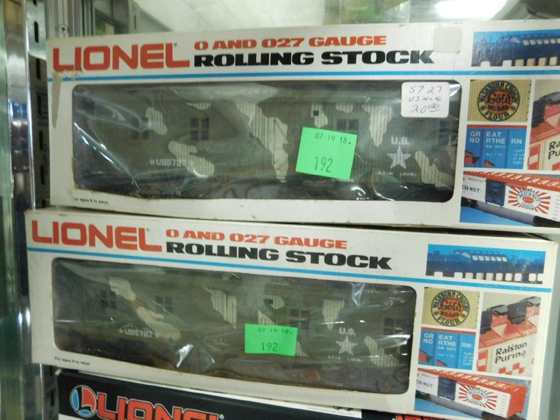 3 Lionel Military Train Cars w/Boxes - 2