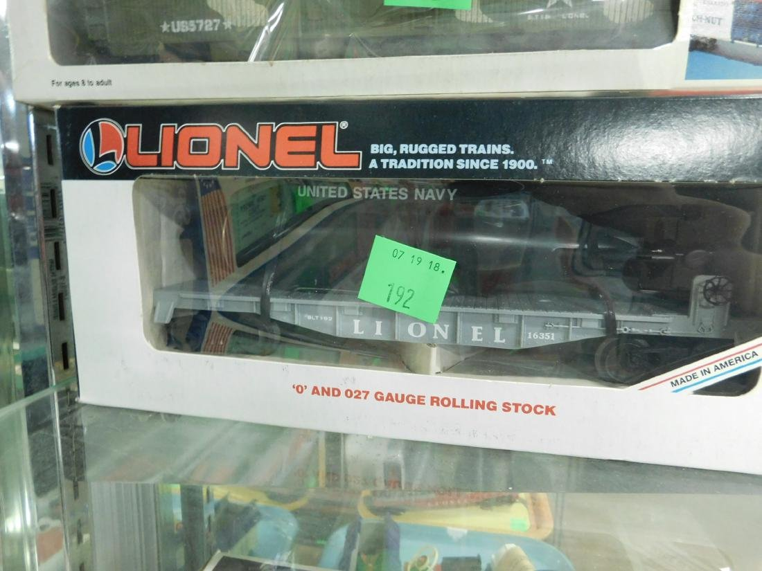 3 Lionel Military Train Cars w/Boxes - 3