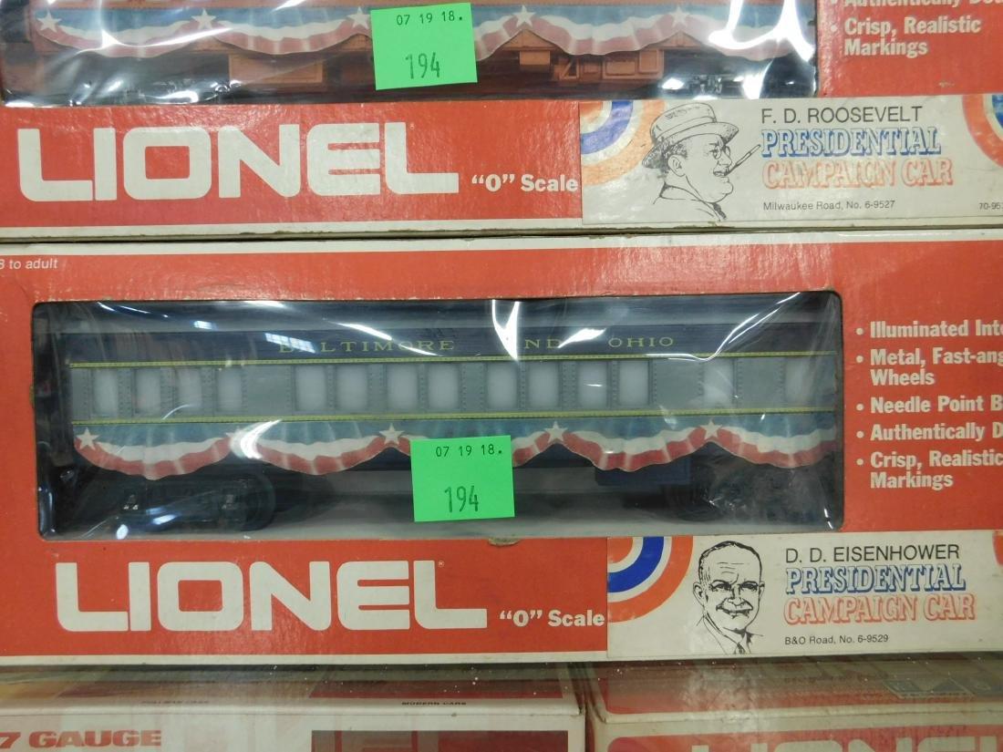 2 Lionel Presidential Campaign Train Cars - 2