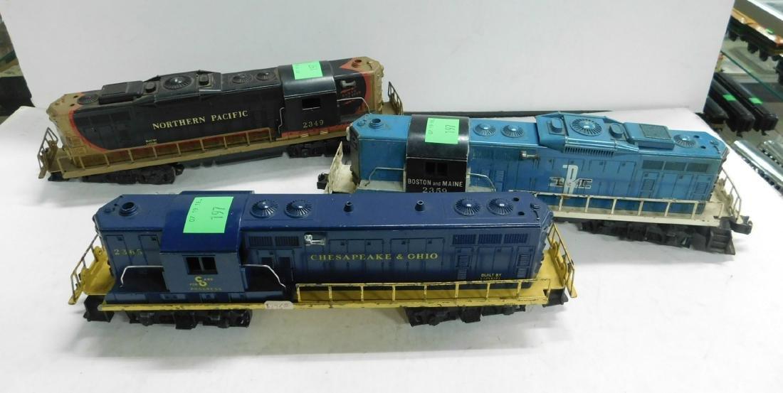 3 Lionel Postwar Gp7 Diesel Engines
