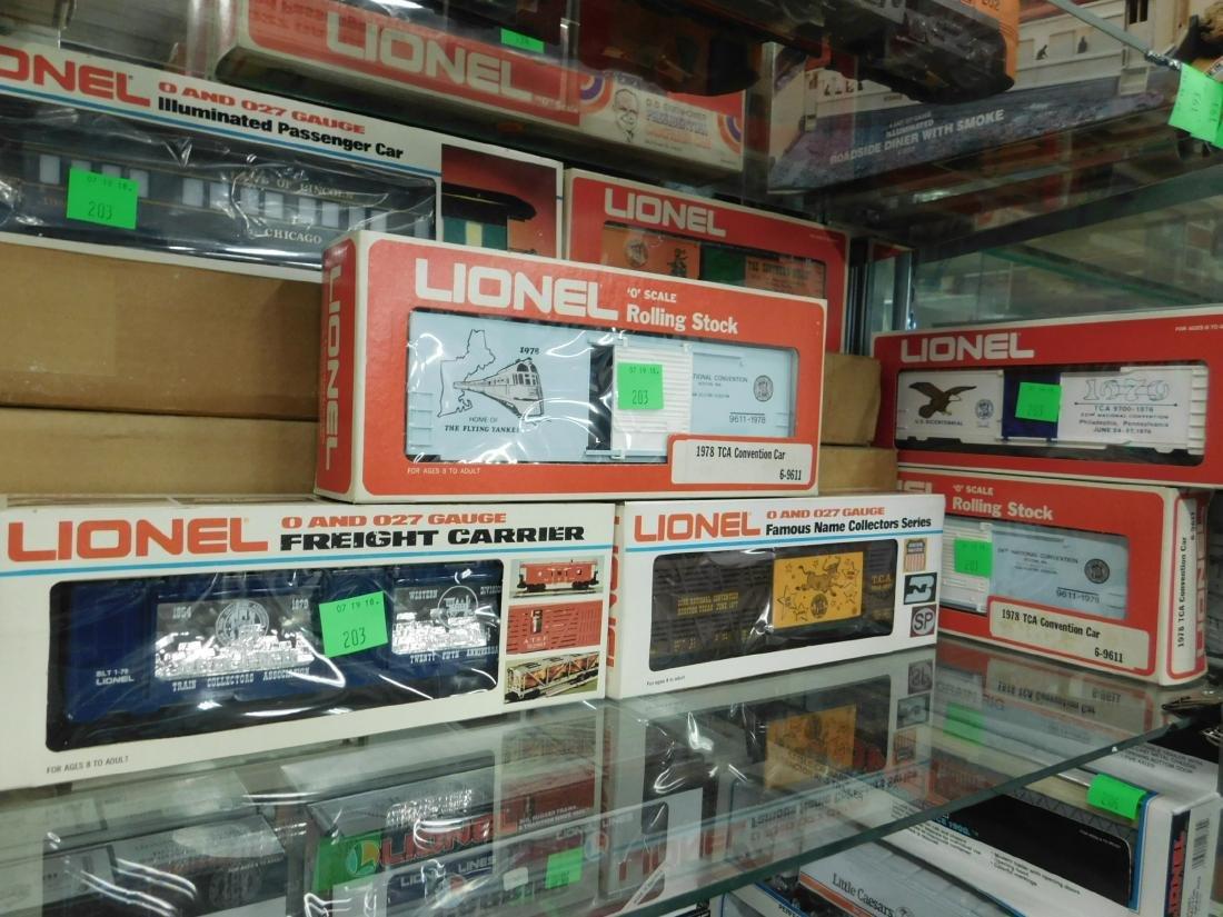 6 Lionel TCA Convention Train Cars