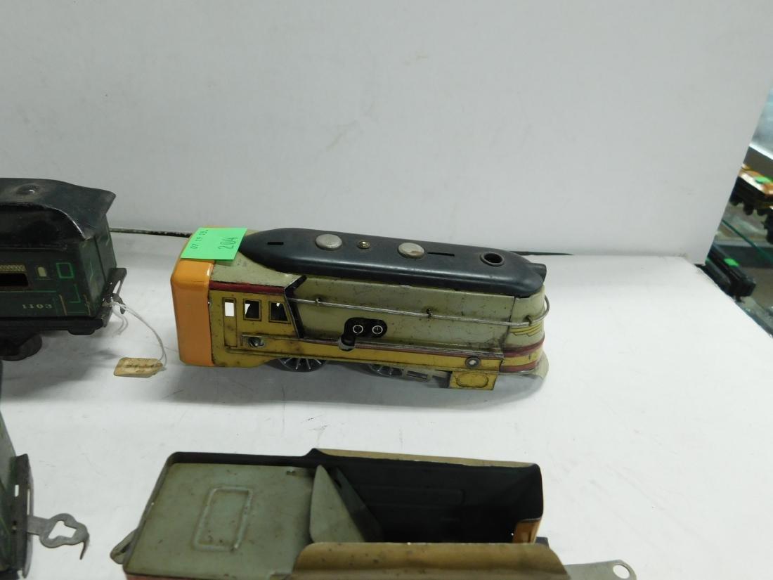 Vintage American Flyer Tin Windup Engine & Tender - 2