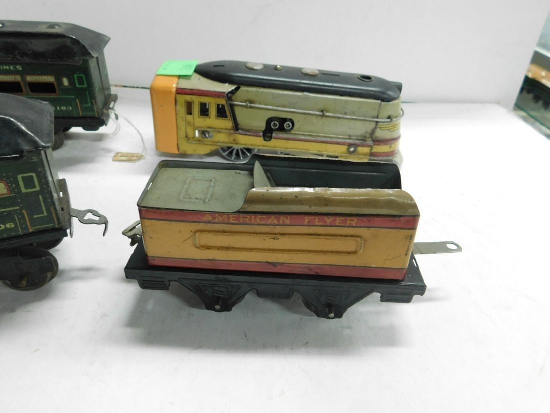 Vintage American Flyer Tin Windup Engine & Tender - 3