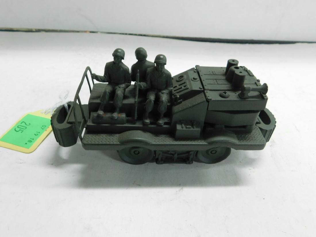 Cast Iron Military Train Car w/Soldiers