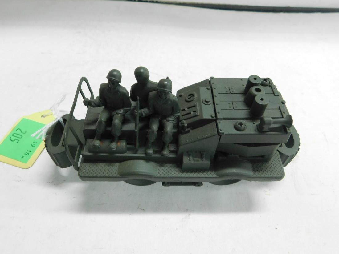 Cast Iron Military Train Car w/Soldiers - 2