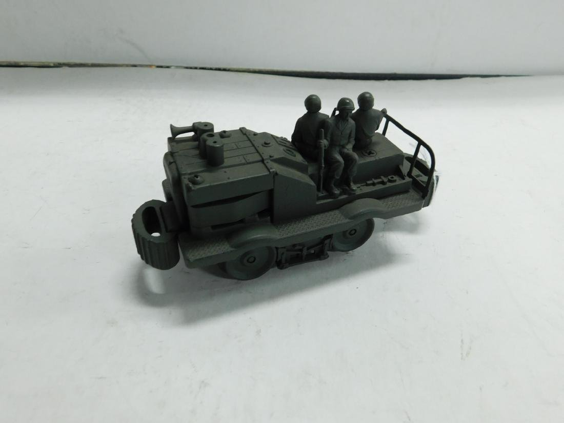 Cast Iron Military Train Car w/Soldiers - 3