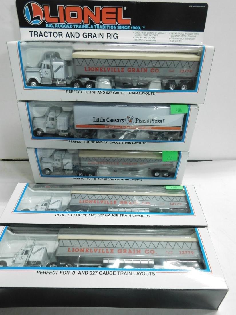 5 Lionel Tractor Trailers in Original Boxes