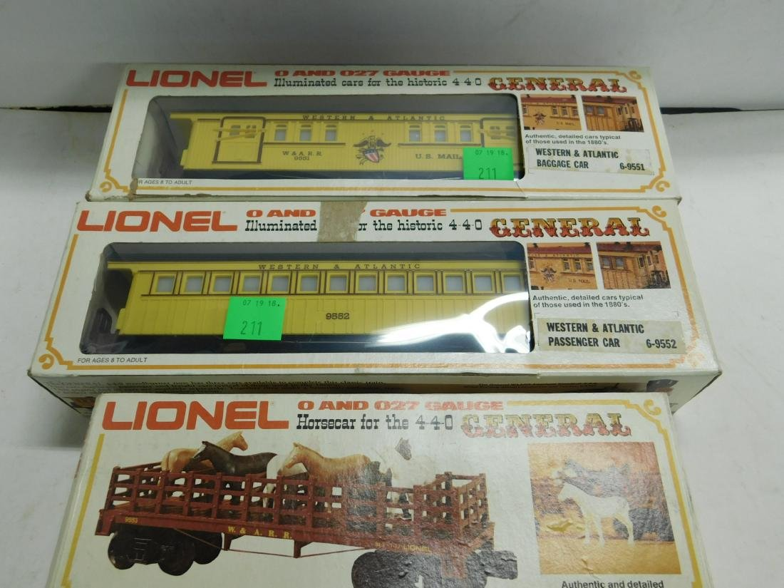 Lionel Western & Atlantic Baggage & Passenger Cars