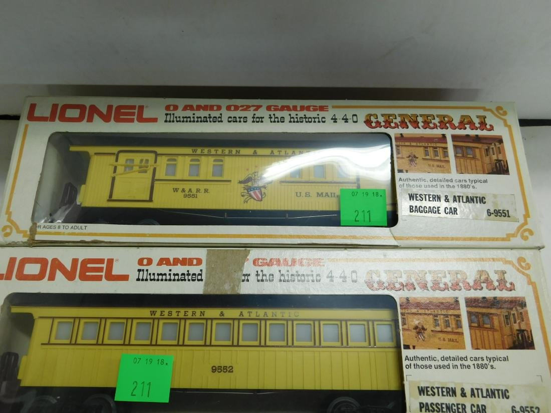 Lionel Western & Atlantic Baggage & Passenger Cars - 2