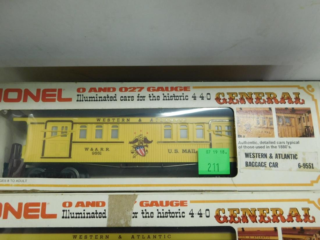 Lionel Western & Atlantic Baggage & Passenger Cars - 3