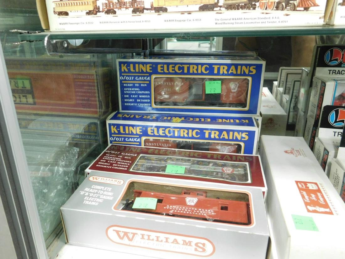 6 K-Line & Other Train Cars in Original Boxes