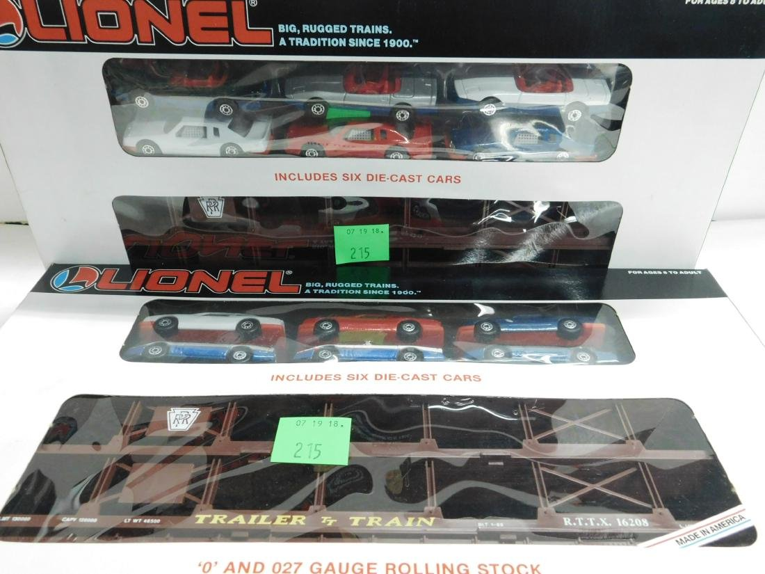 2 Lionel Penn Auto Carriers with Cars,