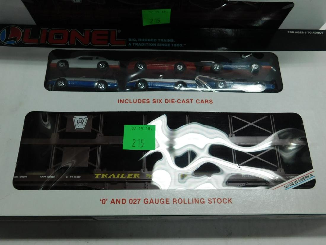 2 Lionel Penn Auto Carriers with Cars, - 2