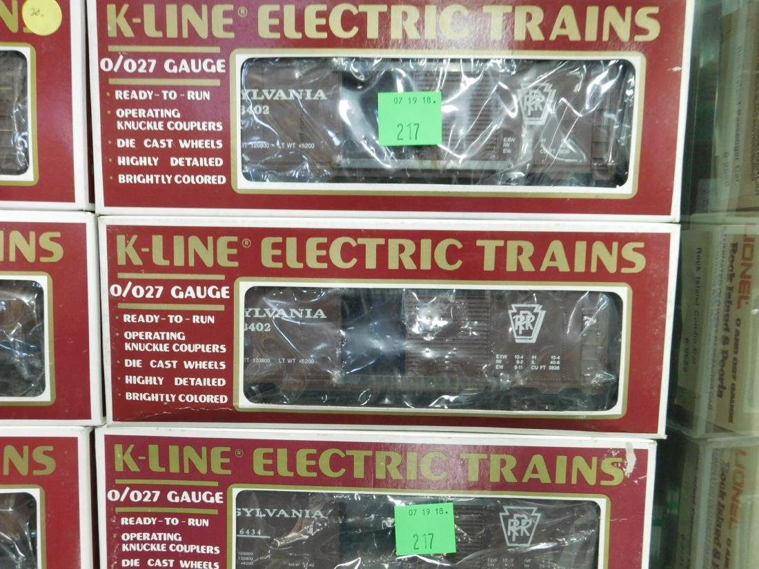 7 K-Line Train Cars in Original Boxes - 3