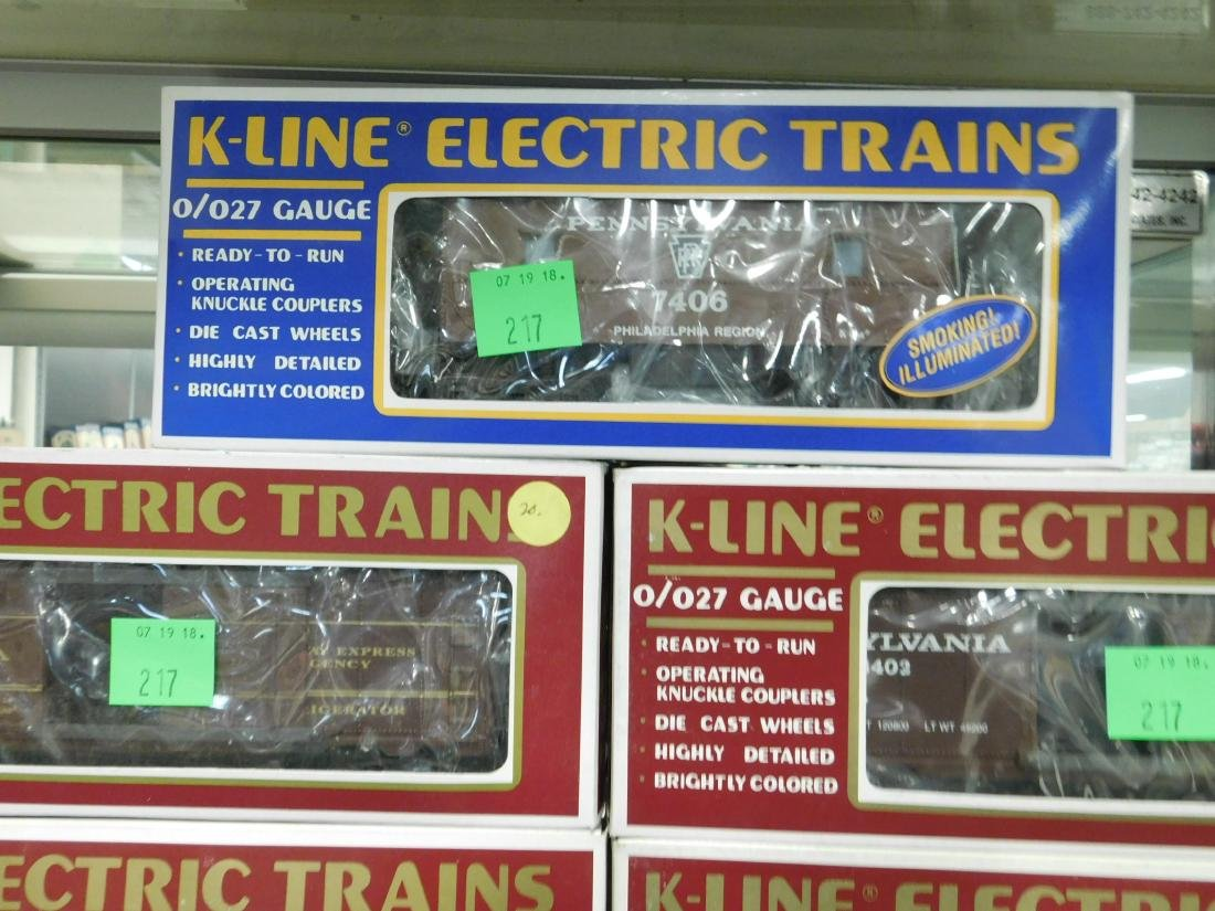 7 K-Line Train Cars in Original Boxes - 4