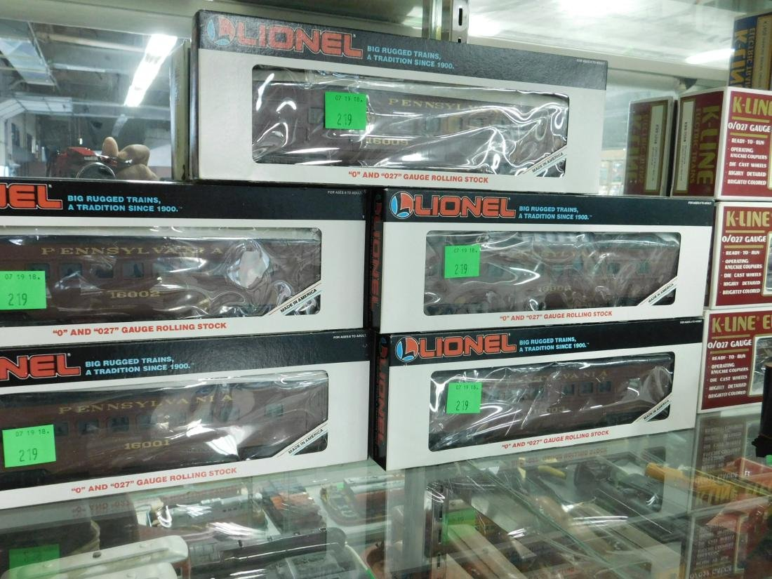 5 Lionel PA Rolling Stock Train Cars