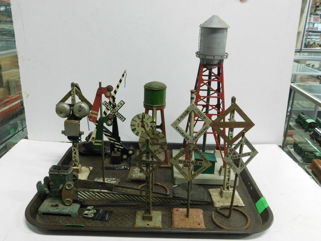 Vintage Tin & Other Train Track Accessories