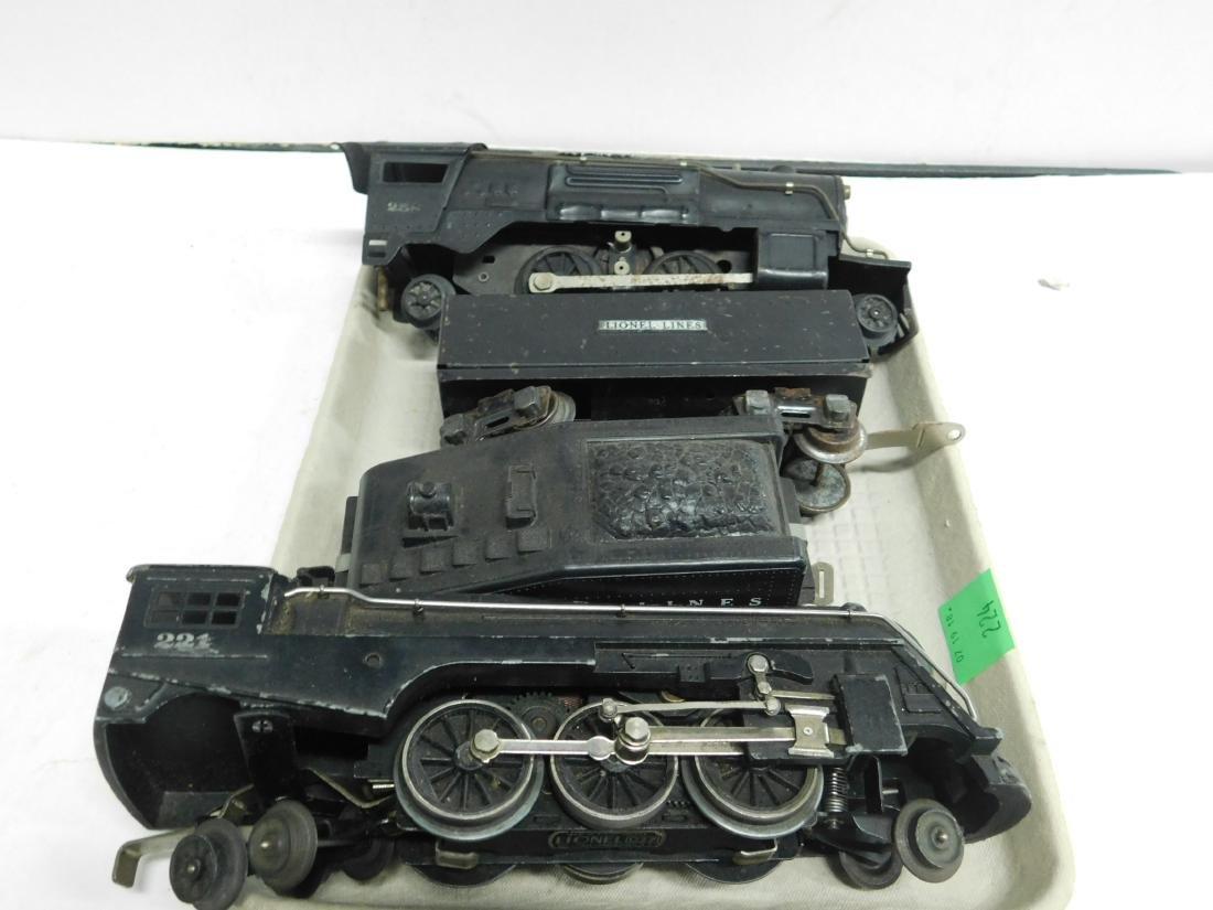 2 Lionel Steam Locomotive & 2 Tenders