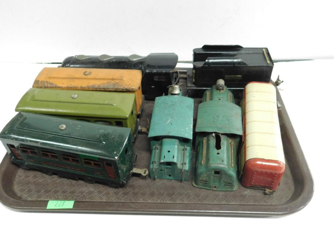Lot-Assorted Train Car Bodies