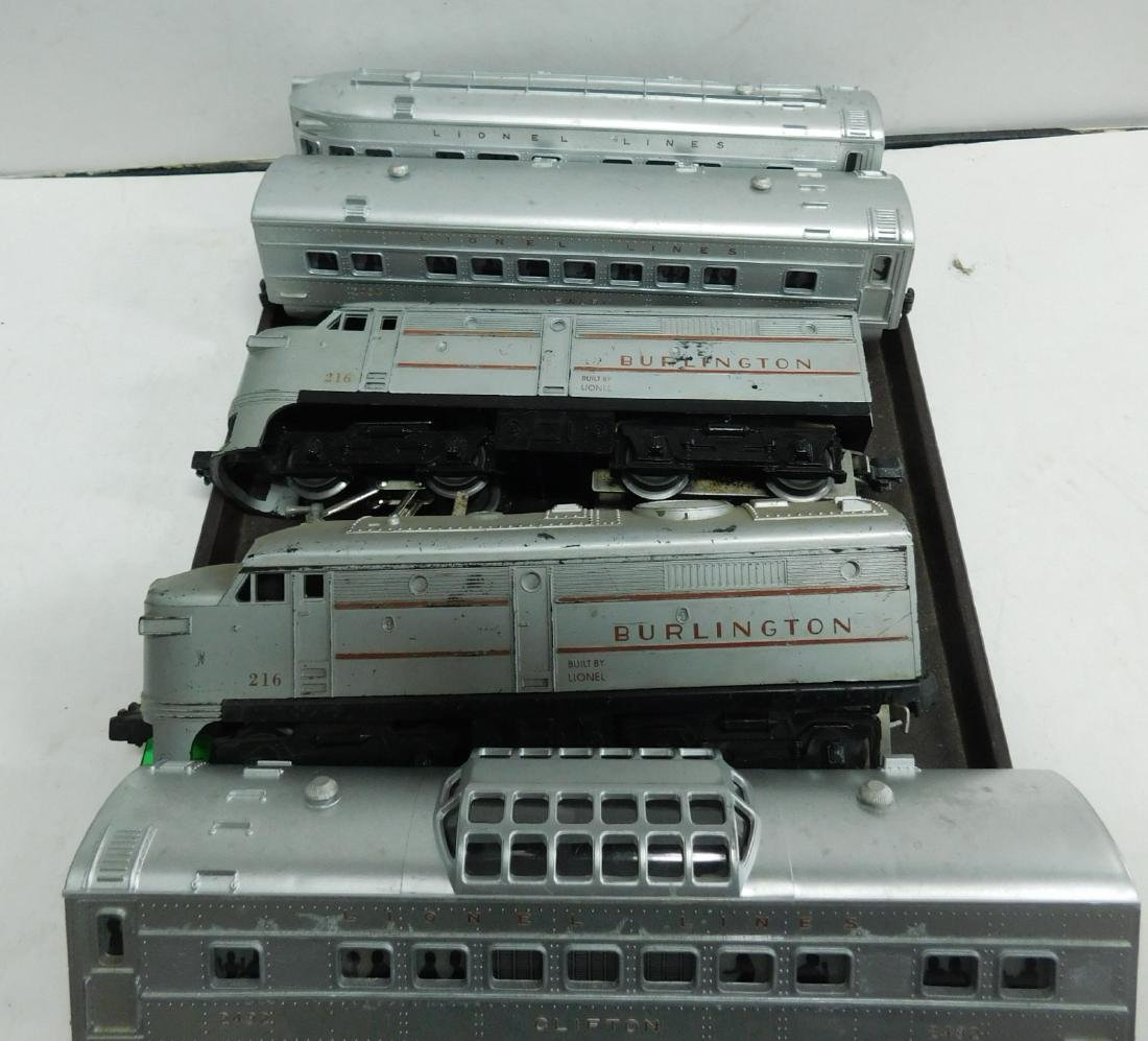 2 Lionel Switchers and 3 Passenger Cars