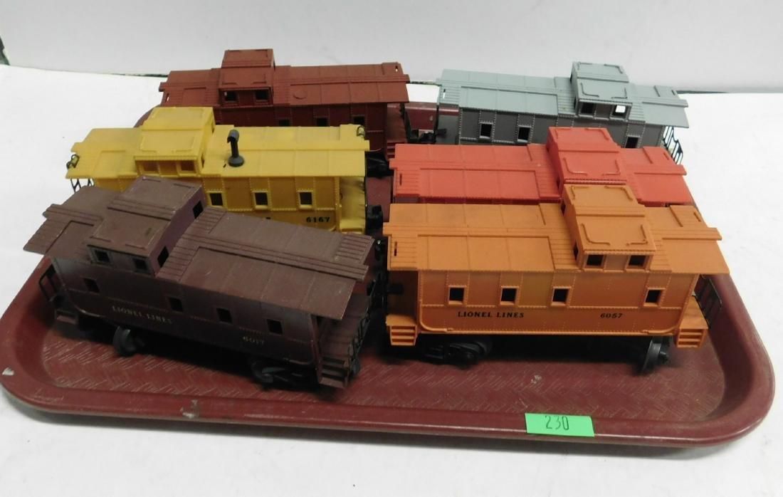 6 Lionel Postwar Cabooses