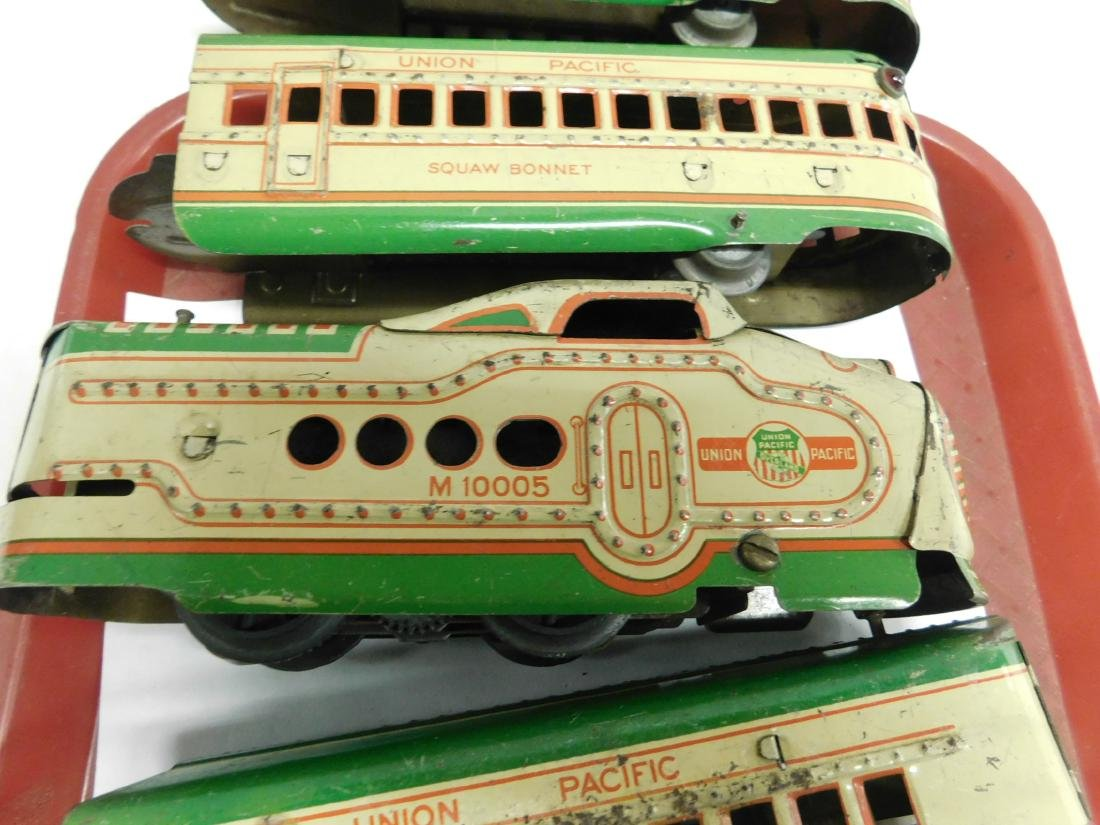Marx Prewar 6 Piece Tin Train Set - 6