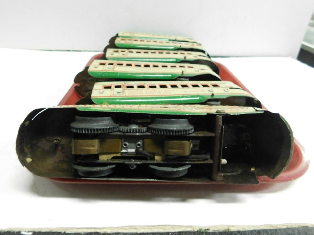 Marx Prewar 6 Piece Tin Train Set - 7