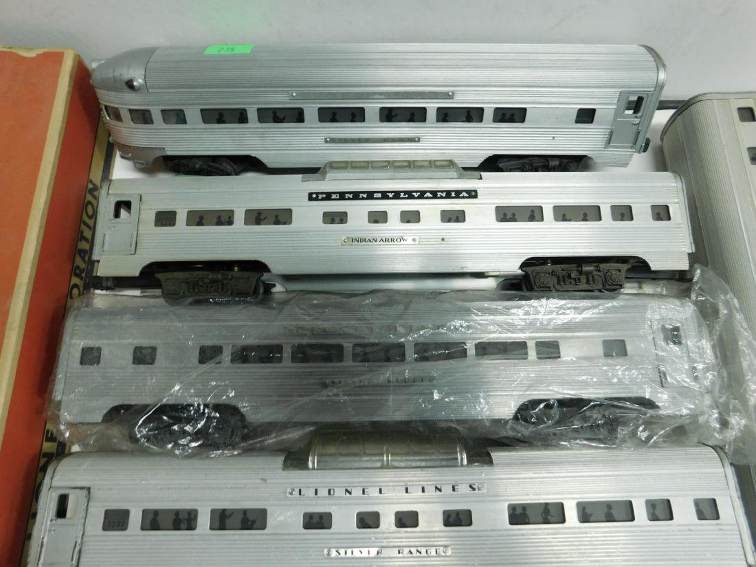 6 Lionel Silver Series Illuminated Train Cars - 3