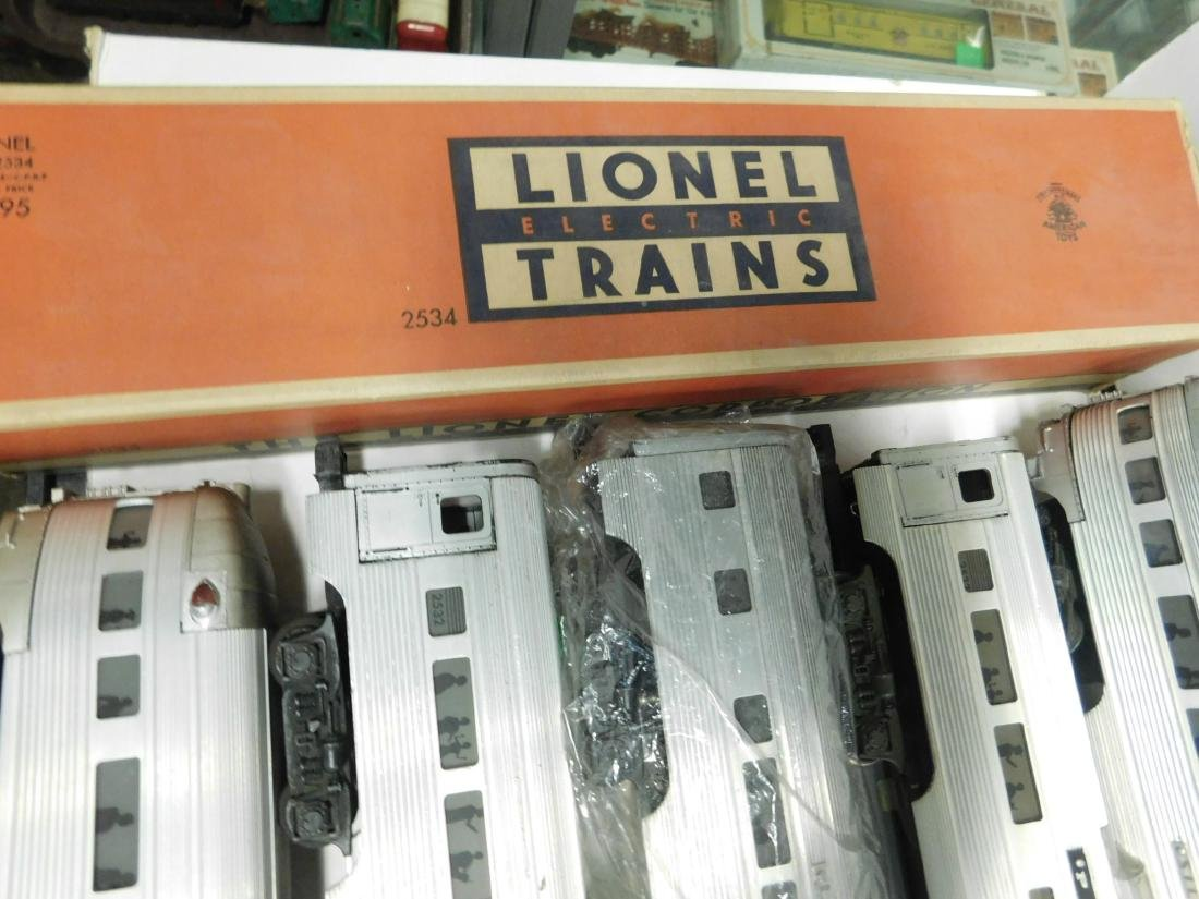 6 Lionel Silver Series Illuminated Train Cars - 6