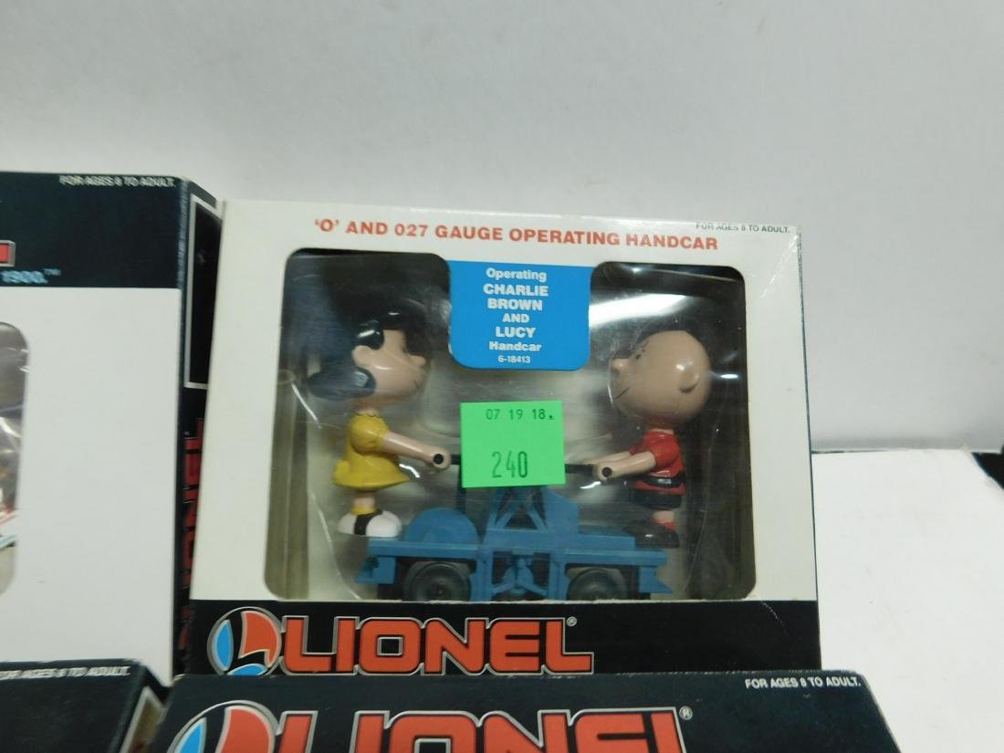 5 Lionel Operating Handcars Like New in Boxes - 4