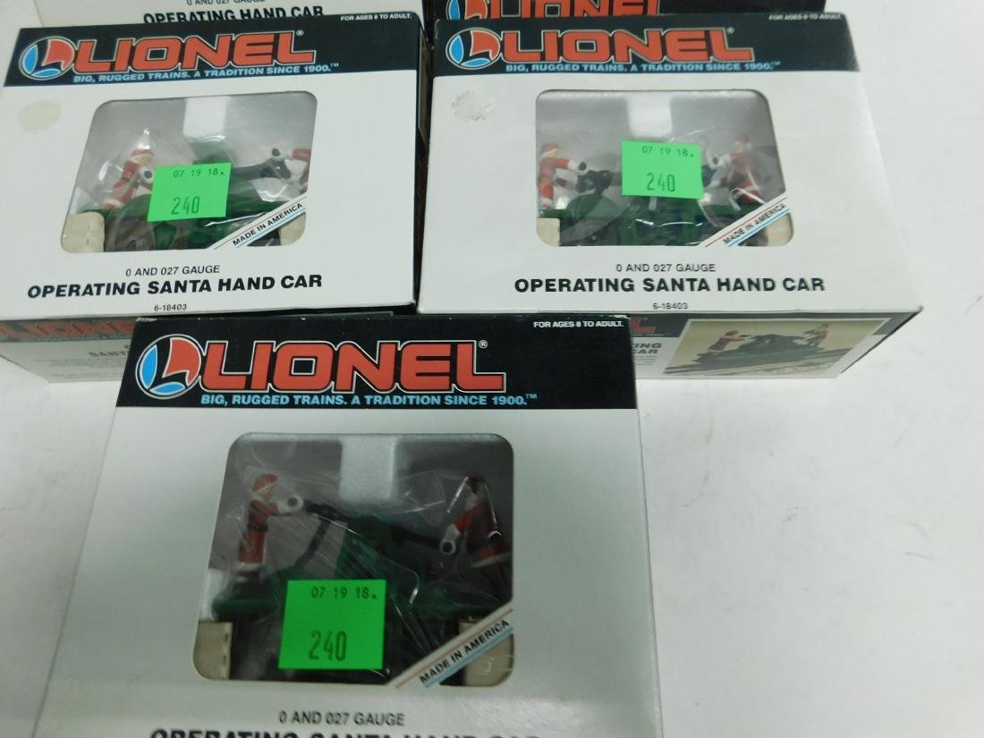 5 Lionel Operating Handcars Like New in Boxes - 6